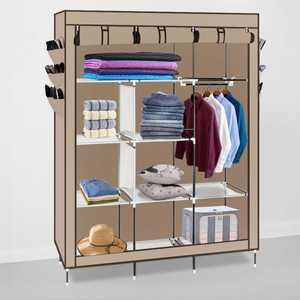 Ktaxon Clothes Organizer Wardrobe Portable Closet with Non-Woven Fabric, Brown