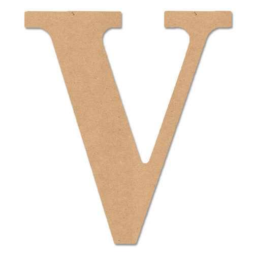 """MPI Wood 5"""" Classic Font """"V"""", 1 Each"""