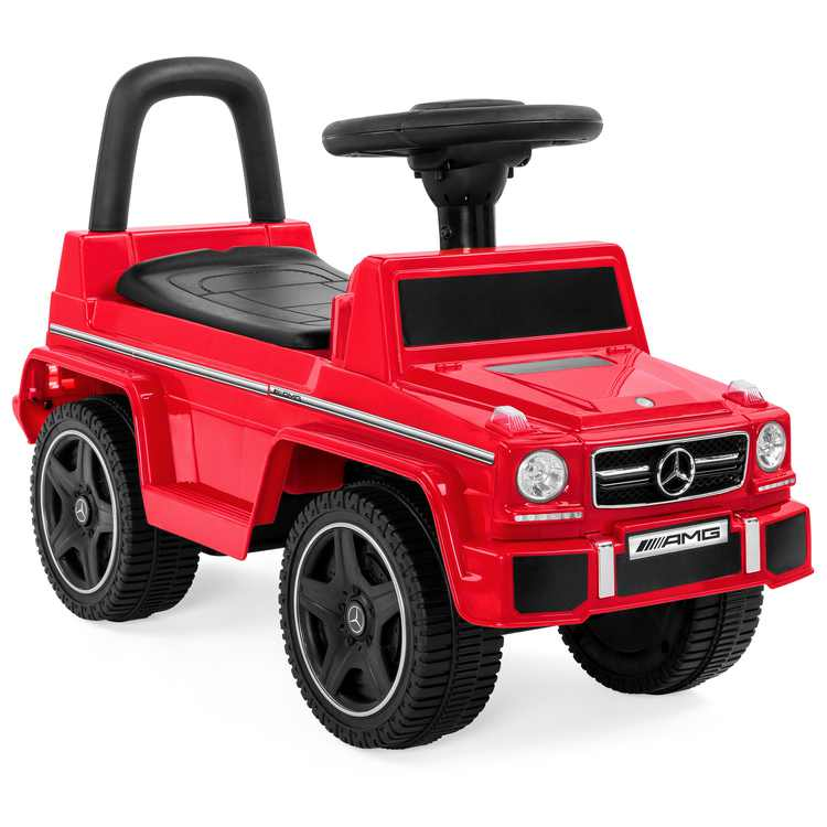 Best Choice Products Kids Mercedes G63 Foot-to-Floor Ride-On Push Car w/ Horn - Red