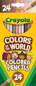 Crayola Colors of the World Colored Pencils, Assorted Colors, Child, 24 Pieces