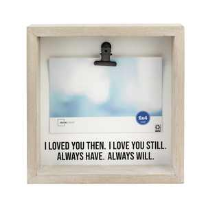 Mainstays 6x4 Shadowbox Love Photo Frame with Clip