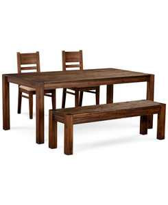 """Avondale Large Dining, 4-Pc. Set (72"""" Dining Table, 2 Side Chairs & Bench), Created for Macy's"""