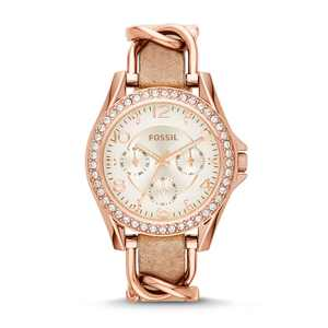 Fossil Women's Riley Multifunction, Rose Gold-Tone Stainless Steel Watch, ES3466