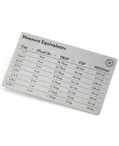 Measuring & Conversion Chart, Created for Macy's