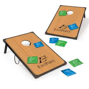 EastPoint Sports Deluxe Cornhole Set; 3 ft x 2 ft. 8 Green and Blue Colored Bean Bags Included