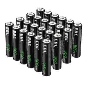 EBL 24-Pack 1.2V 500mAh Rechargeable AAA Batteries for Solar Garden Light