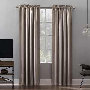 Sun Zero Malmo Extreme 100% Blackout Rod Pocket Curtain Panel