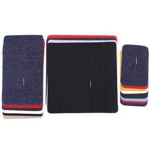 WALFRONT Jacket Jean Clothes Denim Patches Iron-on Repair Patches Kit, Mending Patches, 18Pcs Assorted Iron on Jean Mending Patches Repair Kit for Cloth Jeans Hats, Jeans Patches