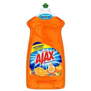 Ajax Ultra Triple Action Liquid Dish Soap, Orange - 52 fluid ounce