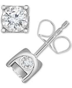 Diamond Stud Earrings (5/8 ct. t.w.) in 14k Gold or White Gold