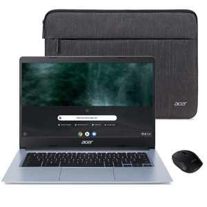 "Acer Chromebook 314, Intel Celeron N4020, 14"" HD Display, 4GB LPDDR4, 32GB eMMC, Intel 802.11ac Gigabit WiFi 5, Protective Sleeve, Wireless Mouse, Chrome OS, CB314-1H-C7W8"
