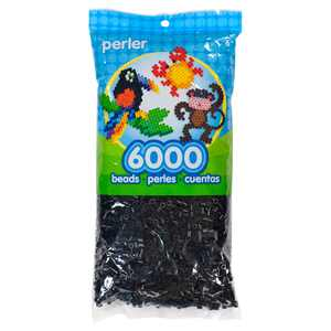 Perler Beads, Black, 6000 Pieces