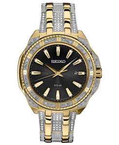 Men's Solar Dress Two-Tone Stainless Steel Bracelet Watch 45mm