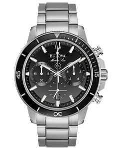 Men's Chronograph Marine Star Stainless Steel Bracelet Watch 45mm