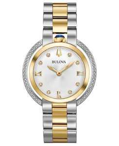 Women's Rubaiyat Diamond (1/4 ct. t.w.) Two-Tone Stainless Steel Bracelet Watch 35mm