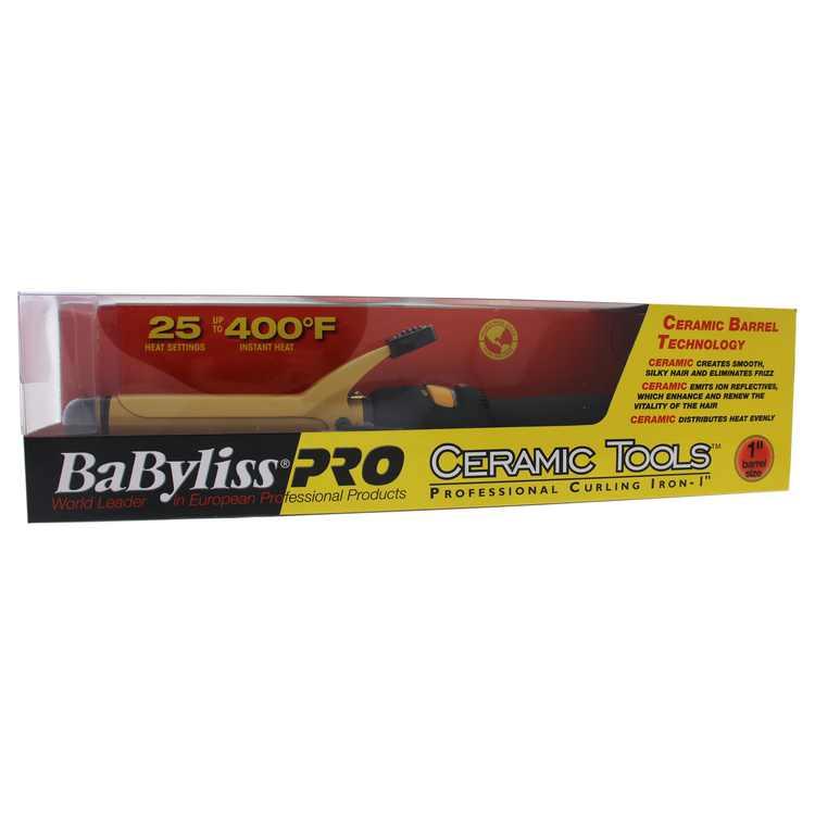 "BaBylissPRO ceramic tools 1"" spring curling iron"