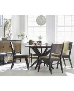 Ashton Round Pedestal Dining 5-Pc. Set (Round Pedestal Dining Table & 4 Side Chairs)