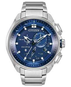 Eco-Drive Men's Chronograph Proximity Stainless Steel Bracelet Watch 46mm