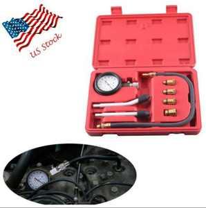 GZYF Multi-function Automotive Compression Gauge Test Set for Engine Cylinders Diagnostic Tester Gauge Tool Kit 0-300psi