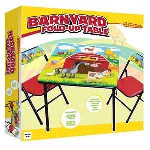 Gener8 GS75044 Barnyard table & Chair, Multi Color