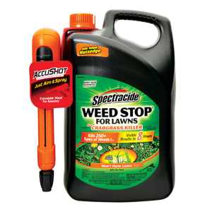 Spectracide Weed Stop for Lawns plus Crabgrass Killer Accushot Sprayer, 1.33g