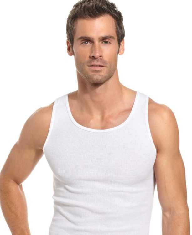 Men's Underwear, Tagless Ribbed Tank Top 5 Pack