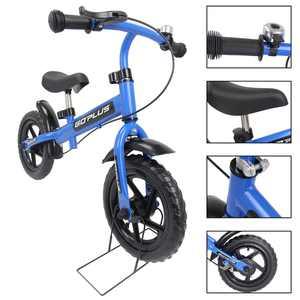Goplus 12'' Blue Kids Balance Bike Children Boys & Girls with Brakes and Bell Exercise