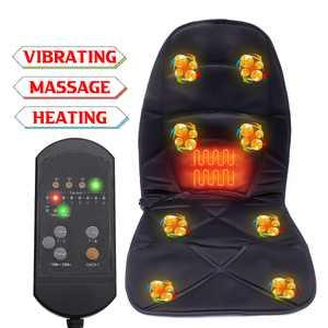 8 Mode 3 Intensity Car Back Neck Lumbar Full Body Massage Massager Seat Cushion Pad, w/ Vibration & Heating Timing Function