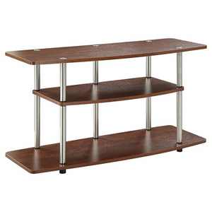 3 Tier Wide TV Stand Cherry - Breighton Home