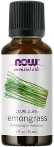 NOW Essential Oils, Lemongrass Oil, Uplifting Aromatherapy Scent, Steam Distilled, 100% Pure, Vegan, Child Resistant Cap, 1-Ounce