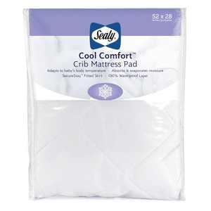 Sealy Cool Comfort Waterproof Crib & Toddler Mattress Pad