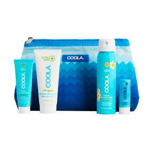 COOLA Organic Sunscreen & Lip Balm Sun Protection Kit, Made with Coconut Oil and Shea Butter, SPF 30, Travel Size, 4 Items Total