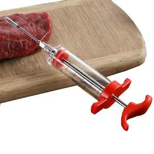 TureClos Marinade Injector Flavor Syringe Cooking Meat Poultry Xmas Turkey BBQ Tools