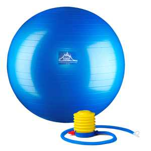 Black Mountain Products Professional Grade Stability Ball - Pro Series 1000lbs Anti-burst 2000lbs Static Weight Capacity, 75cm Blue