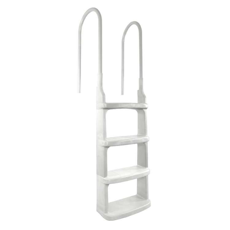 Main Access 200200 Easy Incline Above Ground In Pool Swimming Ladder, White