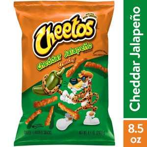 Cheetos Crunchy Cheddar Jalapeno Cheese Snacks, 8.5 oz