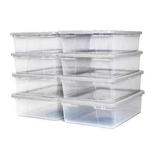 Homz Snaplock 28 Quart Clear Underbed Storage Container with White Lid