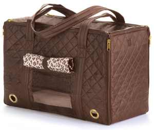 Sherpa Park Tote Pet Carrier, Small Brown