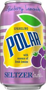 Polar Seltzer'ade, Blueberry Lemonade, 12 Fl Oz, 24 Count