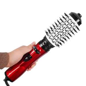 Hot Air Brush for Short Hair, One Step Hair Dryer and Volumizer Negative Ion Hair Straightener Curler Brush