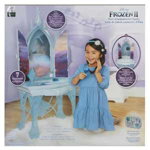 "Disney Frozen 2 Elsa's Enchanted Ice Vanity Includes Lights, Iconic Story Moments & Plays ""Vuelie"" and ""Into the Unknown"" For Ages 3+"