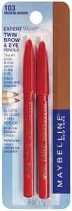 Maybelline Expert Eyes Twin Brow & Eye Pencils, Medium Brown [103], 0.06 oz