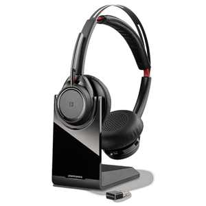 Plantronics Voyager Focus UC B825-M Stereo Bluetooth Headset With Active Noise Cancelling-ANC