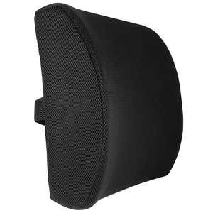Meidong Ergonomic Lumbar Support Pillow - Elevates Lower Back Comfort - 100% Pure Memory Foam - Use in Car or Office Chair - Fits Most Seats - Breathable Mesh - Washable Cover