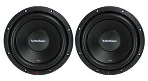 "Rockford Fosgate R2D2 10"" 1000W 2-Ohm DVC Car Audio Subwoofer Set, 2pk"