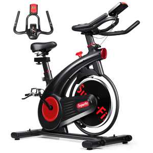 SuperFit Stationary Exercise Bike Silent Belt Drive Cycling Bike