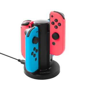 Insten 4 in 1 Joy Con Controller Charger Docking Stand For Nintendo Switch with LED indication and USB Cable