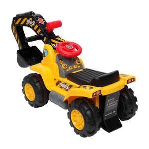 UBesGoo Ride on Excavator Push & Pedal Ride-On for Boy Girl Yellow