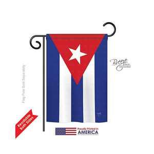 Cuba 2-Sided Impression Garden Flag - 13 x 18.5 in.