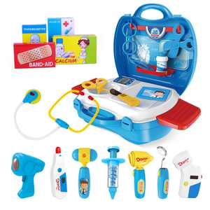 iBaseToy Set of 27PCS Kids Doctor Tools Pretend Play Medical Tools Kit Nurse Toy for Toddlers Boys and Girls